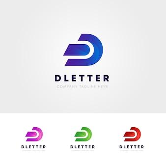 Logo de letra d criativa