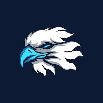Logo de mascote de esporte de águia