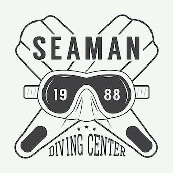 Logo de mergulho