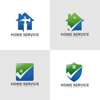 Logo de serviço em casa