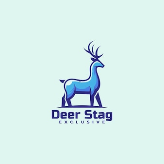 Logo deer simple