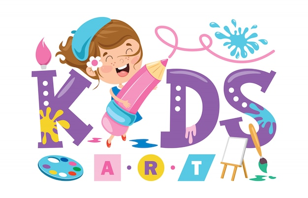 Logo design for kids art