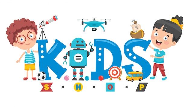 Logo design for kids shop