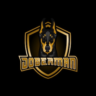 Logo do esports do doberman