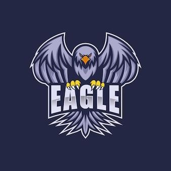 Logo eagle e esporte e estilo esportivo.