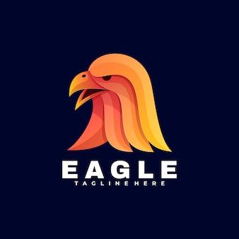 Logo eagle gradient estilo colorido.