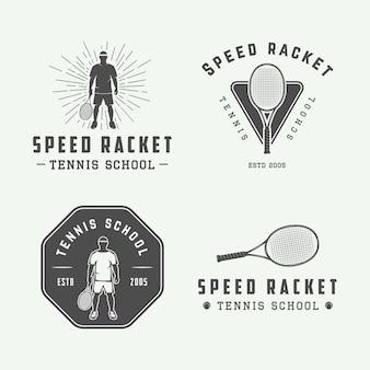 Logo emblema setor de tênis