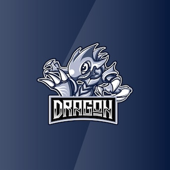 Logo esport dragão personagem