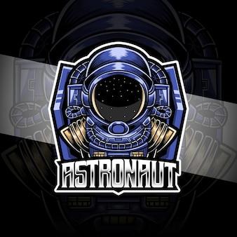 Logo esport personagem astronout
