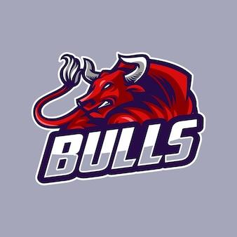 Logo esporte de touro