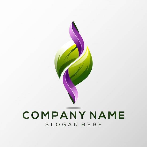 Logo folha premium