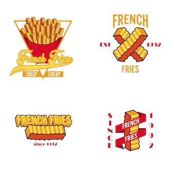 Logo french fries retro vintage