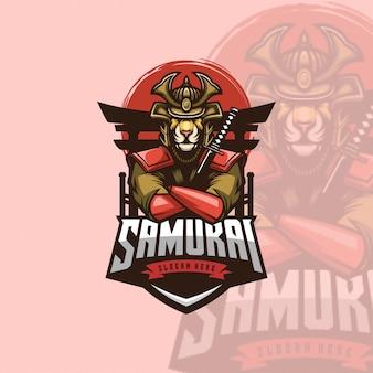 Logo ícone samurai leão esports