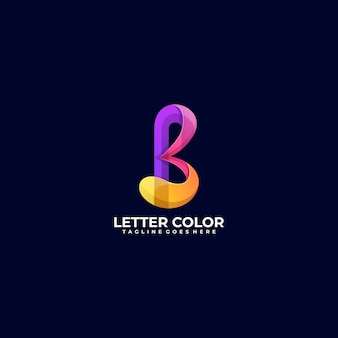 Logo illustration abstract letter gradient colorful style.