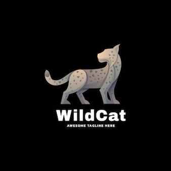 Logo illustration cat gradient colorful style selvagem.