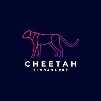 Logo illustration cheetah gradiente linha art style.