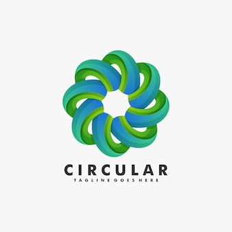 Logo illustration circular gradient colorful style.