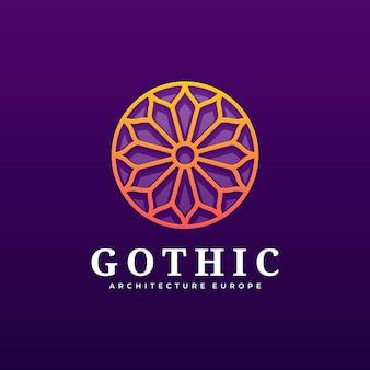 Logo illustration gothic gradient colorful style.