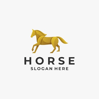 Logo illustration horse gradient colorful style.
