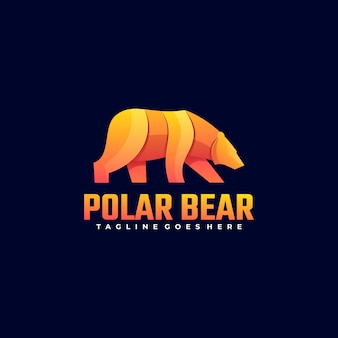 Logo illustration polar gradient colorful style.