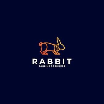 Logo illustration rabbit gradient line art style.