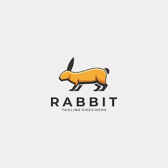 Logo illustration rabbit mascot cartoon style.