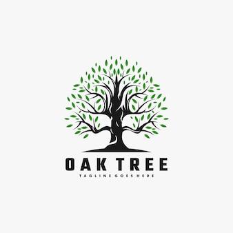 Logo illustration tree color style.