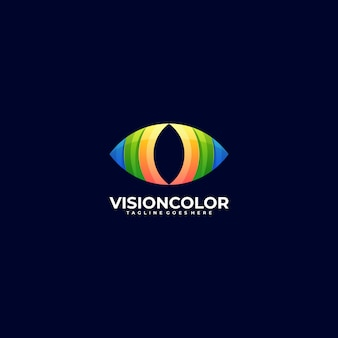 Logo illustration vision gradient colorful style.