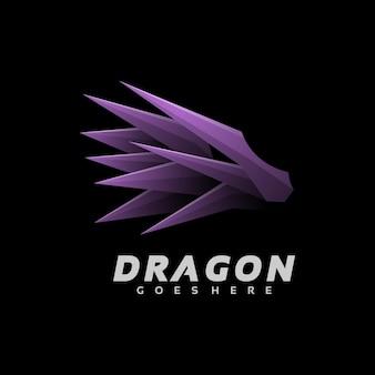 Logo ilustração dragão gradiente estilo colorido