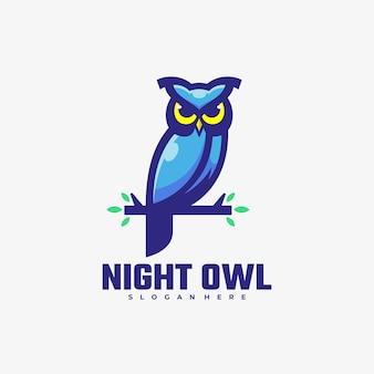 Logo ilustração owl simple mascot style