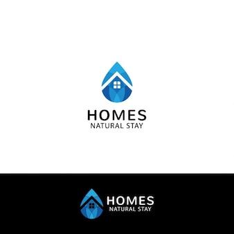 Logo imobiliário em forma de gota