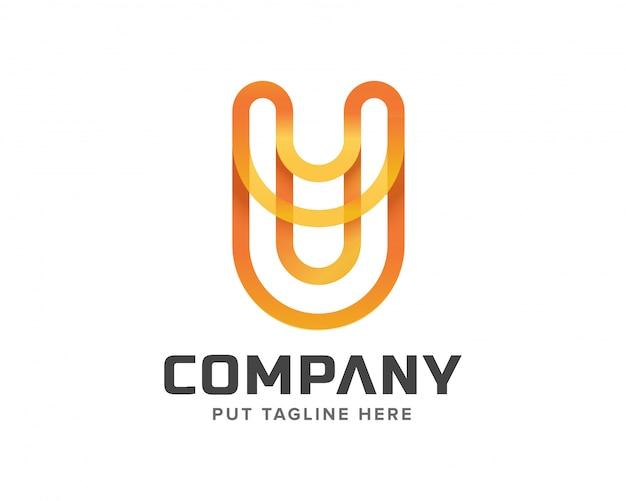 Logo inicial criativo da letra u
