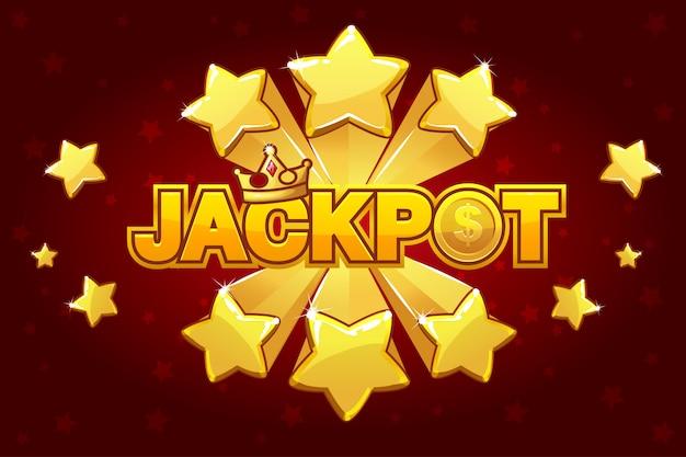 Logo jackpot e pico de estrela cadente,