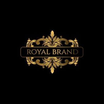 Logo luxury com cor dourada