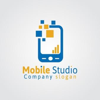 Logo mobile studio Vetor grátis