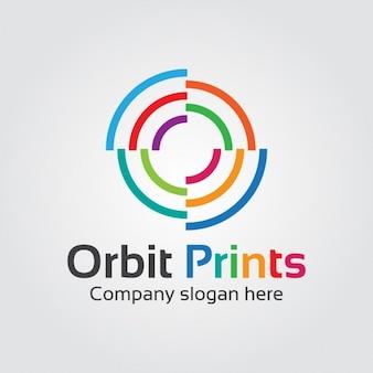 Logo orbital abstrato colorido