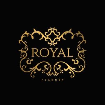 Logo premium de luxo com dourado