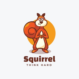 Logo squirrel simple mascot style.