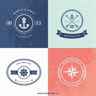 Logo templates casamento náutico