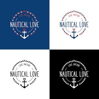 Logo templates náuticas