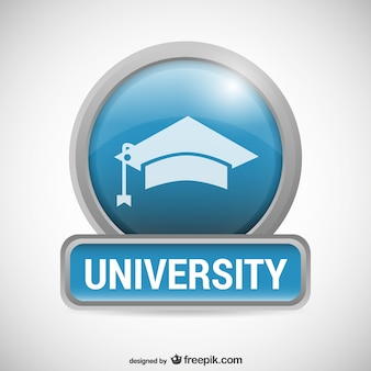 Logo universidade com mortarboard