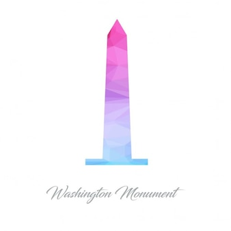 Logo washington monument monumento polygon