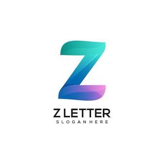 Logo z letra gradiente colorido