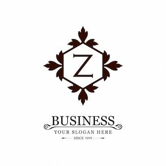 Logo z ornamento negócios