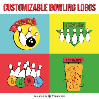 Logos boliche vetor