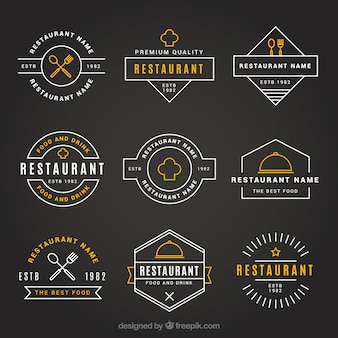 Logos de restaurante vintage com estilo elegante