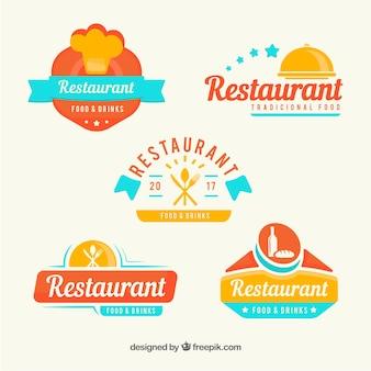 Logos de restaurantes modernos com estilo divertido
