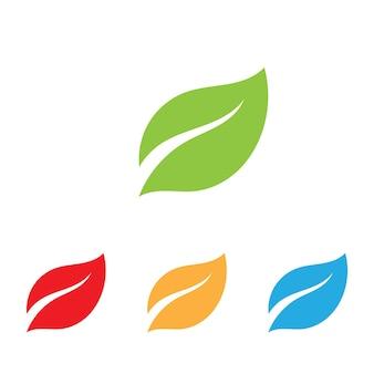 Logos do vetor de elemento de natureza ecologia de folhas de árvore verde