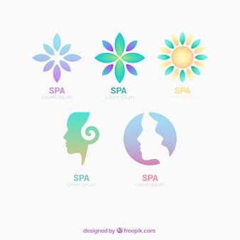 Logos spa em estilo de gradiente