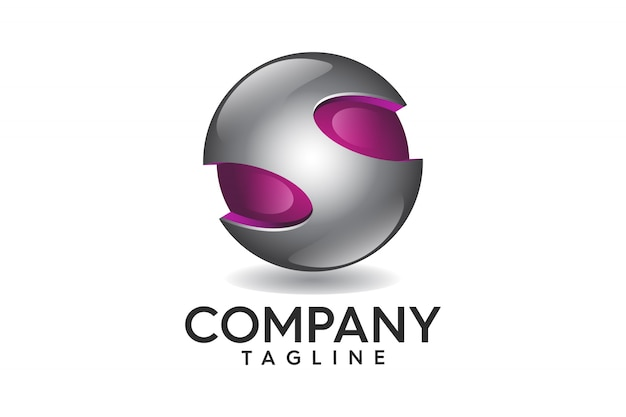 Logotipo 3d abstrato profissional